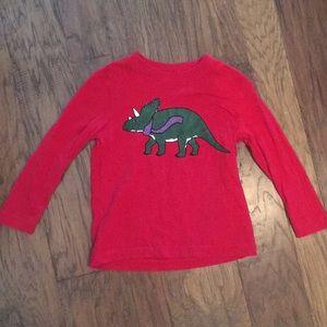 Hanna Anderson boys dinosaur Christmas T-shirt